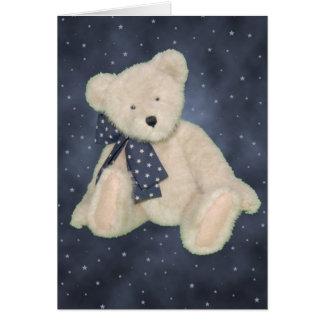 Cartes Souhaits d'ours de nounours