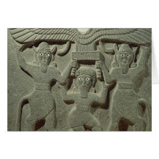 Cartes Soulagement dépeignant Gilgamesh entre deux
