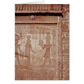 Cartes Soulagement dépeignant un pharaon