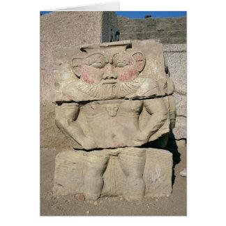 Cartes Soulagement du dieu égyptien de ménage, Bes