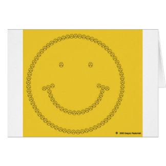 Cartes Sourire de froncement de sourcils par Gregory