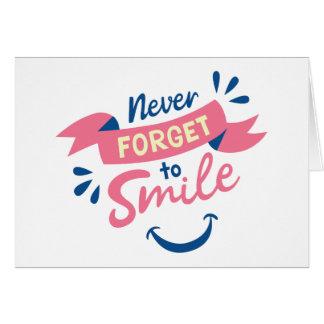 Cartes Sourires d'attitude de bonheur bonjour, pensant à