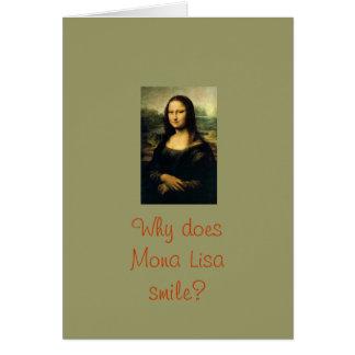 Cartes Sourires de Mona Lisa