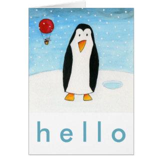 Cartes Souris et pingouin de ballon