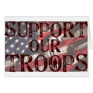 Cartes soutenez notre copie de troupes