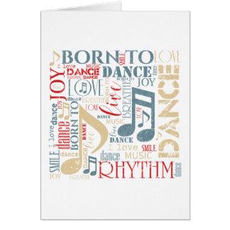 Cartes Soutenu pour danser ID277 bleu