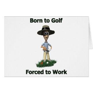 Cartes Soutenu pour jouer au golf