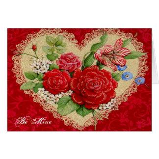 Cartes Soyez le mien pour la Saint-Valentin