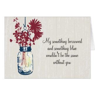 Cartes Soyez mon Bridesmad - pot et fleurs sauvages de