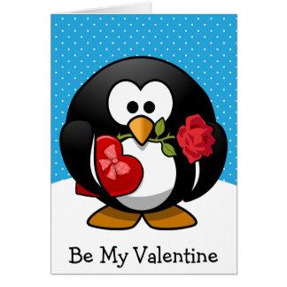 Cartes Soyez mon pingouin de Valentine avec des cadeaux