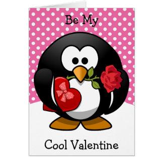 Cartes Soyez mon pingouin frais de Valentine avec des