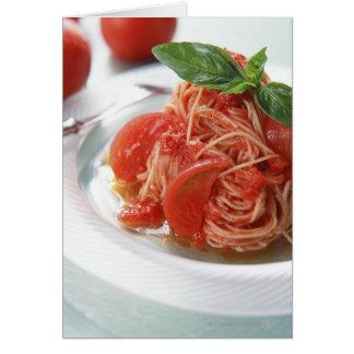 Cartes Spaghetti de tomate