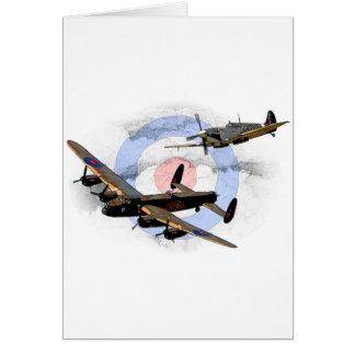 Cartes Spitfire et Lancaster