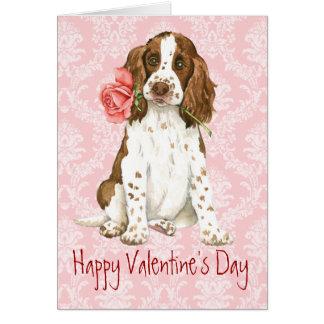 Cartes Springer anglais rose de Valentine