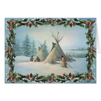 Cartes SQUAW et BRANCHES de CAMP de TIPI par SHARON