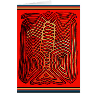 Cartes Squelette tribal indien de homard de Cuna