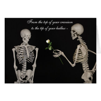 Cartes Squelettes drôles dans l'amour