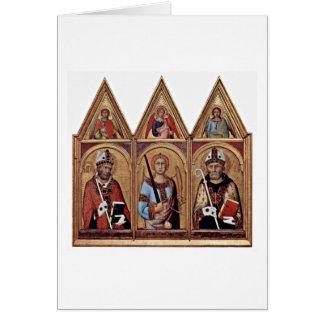 Cartes St Ambrose St Augustine par Simone Martini