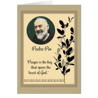 Cartes St Aumônier Pio avec la citation