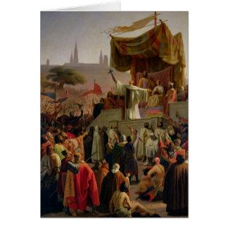 Cartes St Bernard prêchant la deuxième croisade