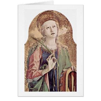 Cartes St.Catherine de l'Alexandrie par Carlo Crivelli