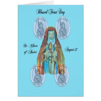 Cartes St Clare de jour de fête d'Assisi