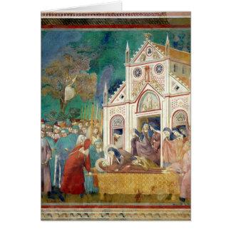 Cartes St Clare embrasse le corps de St Francis