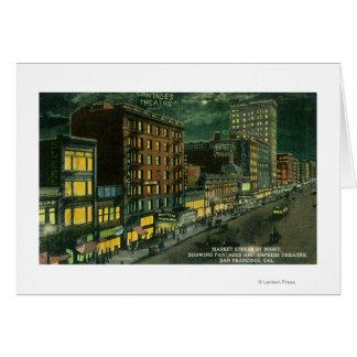 Cartes St du marché la nuit, Pantages, théâtre