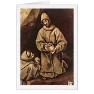 Cartes St Francis et frère Lion par El Greco