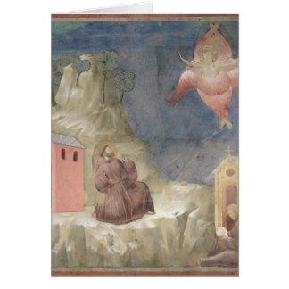 Cartes St Francis recevant les stigmates, 1297-99