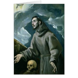 Cartes St Francis recevant les stigmates (huile sur la