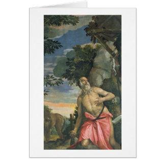 Cartes St Jerome dans la pénitence (huile sur la toile)