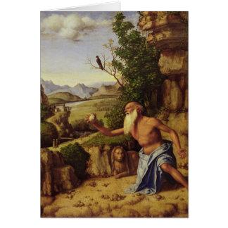 Cartes St Jerome dans un paysage, c.1500-10
