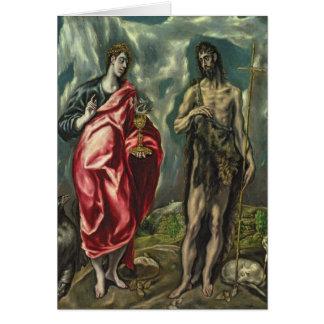 Cartes St John l'évangéliste et St John le baptiste