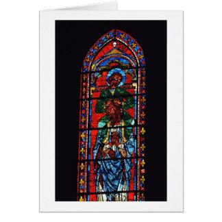 Cartes St John l'évangéliste montant les épaules d'Ez