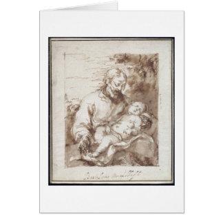 Cartes St Joseph avec l'enfant de sommeil du Christ