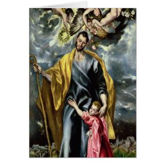 Cartes St Joseph et l'enfant du Christ, 1597-99
