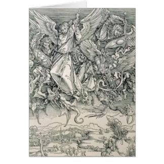 Cartes St Michael luttant avec le dragon