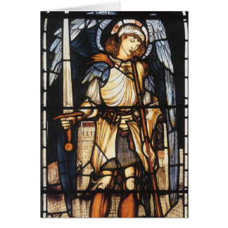 Cartes St Michael par Burne Jones, Arkhangel vintage