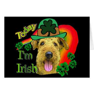 Cartes St patrick d'Airedale Terrier