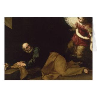 Cartes St Peter a libéré par un ange, 1639