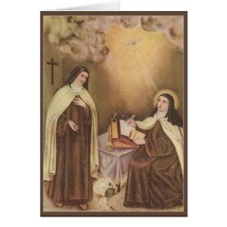 Cartes St Therese de l'enfant Jésus peu de fleur