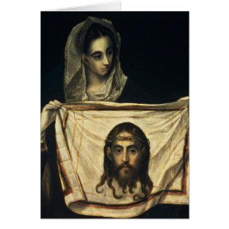 Cartes St.Veronica avec le linceul saint