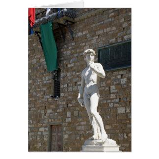 Cartes Statue de David chez le Palazzo Vecchio
