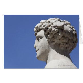 Cartes statue érodée en dehors du Palazzo Vecchio dedans