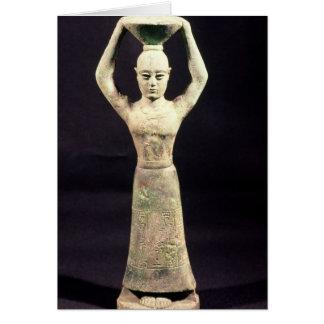 Cartes Statuette de porteur de offre avec votif