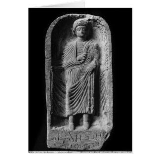 Cartes Stela funéraire d'un homme, découvert dans le