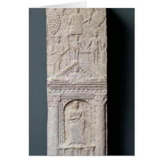 Cartes Stela votif consacré à Saturn