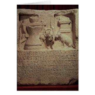 Cartes Stele du miller Marcus Careius Asisa