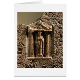 Cartes Stele votif de marbre et de grès avec le figu